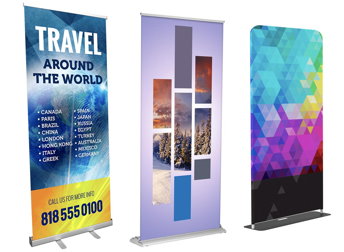 Large Format Printing - Banner Stands