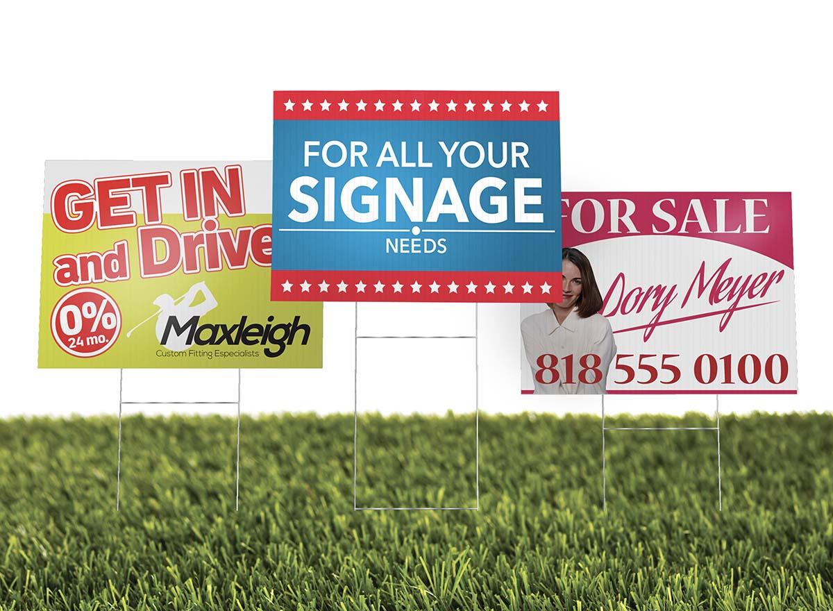 Large Format Printing - Yard Signs