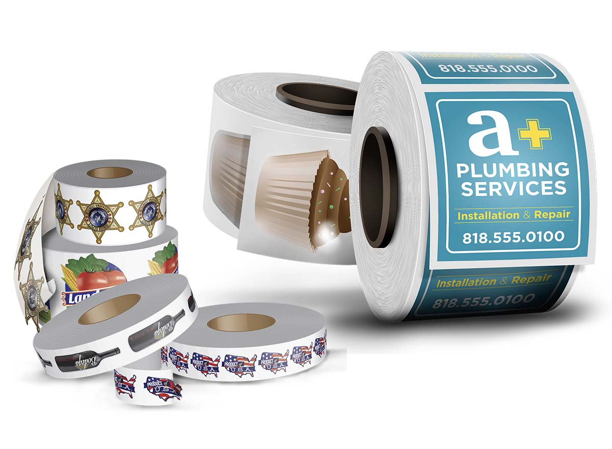 Packaging & Stickers Printing - Roll Labels