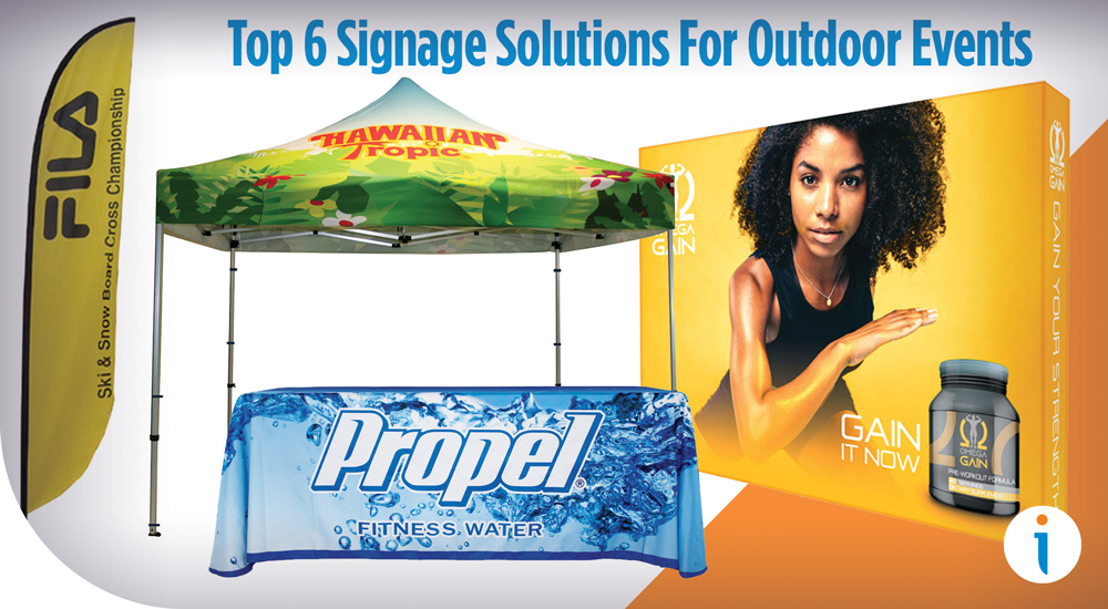 Top 6 Signage Solutions For Outdoor Events